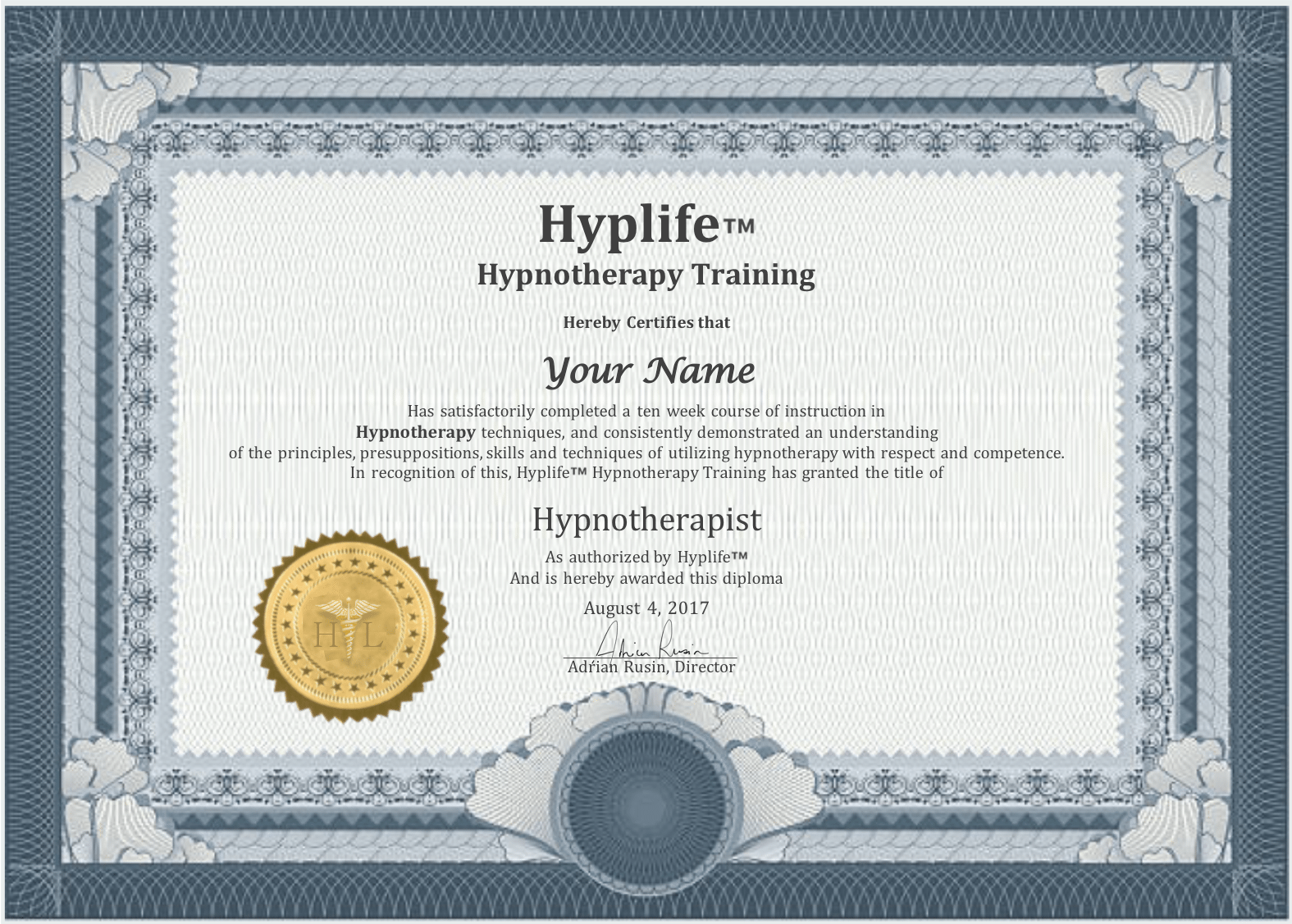 hyplife certification HL